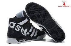 Adidas NEO hohe Spitzen Schuh Schwarz Weiß Bright Red