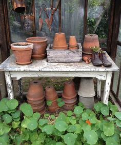 simply wonderful potting table
