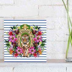 quadro decorativo tropical tiger