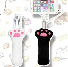 "Kawaii cartoon cat cell phone take photo rod  Coupon code ""cutekawaii"" for 10% off"