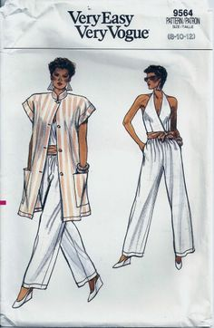70s Vogue Paris Original Sewing Pattern 1446 Pleated Dress