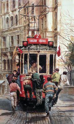 Taksim, Suluboya Çalışması