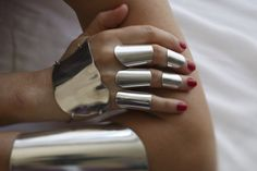"""""""Armour"""" rings by Italy's Paola Volpi - anelli armatura"""