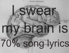 70% song lyrics...