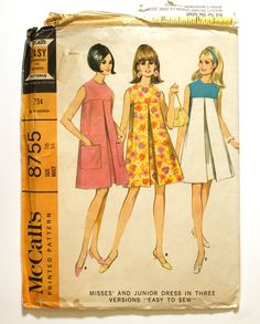 60s tent dresses...I made myself a couple of these