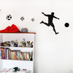Soccer Player Wall Stickers for Kid's Rooms
