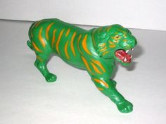 Vintage 1983 Mattel MOTU HE-MAN BATTLECAT Green Cat Vehicle