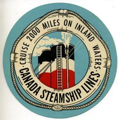 CANADA STEAMSHIP LINES - Great Old ART DECO Luggage Label | eBay