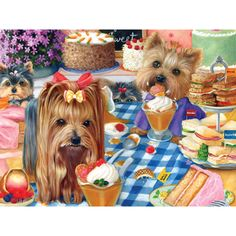 Bits and Pieces 500 Piece Jigsaw Puzzle for Adults Yorkshire Pudding 500 pc Yorkie Puppy Dog Jigsaw by Artist Brook Faulder -- See this great product. Pet Dogs, Dogs And Puppies, Yorky, Mosaic Pictures, Yorkie Puppy, Favorite Pastime, Dog Pattern, Cross Paintings, Jigsaw Puzzles