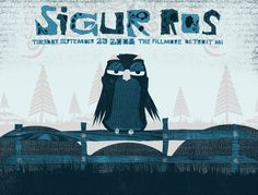 Sigur Ros | 9/23/08 | The Fillmore | Detroit, MI | Community Post: 29 Of The Most Awesome Concert Posters You Will Ever See