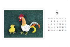 fukiの小さな縫いぐるみ2015年のハガキサイズカレンダーです。紙製の専用ケースがついており、立てて卓上カレンダーとして使用することができます。カレンダー裏...|ハンドメイド、手作り、手仕事品の通販・販売・購入ならCreema。