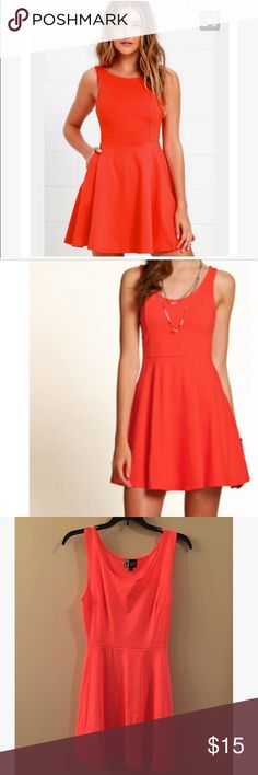 Orange skater dress Great condition except the pen mark & small spot on front not really noticeable Dresses Mini
