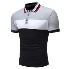 Men's Short Sleeve Casual Fashion Short Sleeves Splicing Design Shirt - Light Gray - - Men's Clothing, Men's Tops & T-Shirts, Men's Polo Shirts # Source by throsinnerembrirouwil clothing styles Polos Lacoste, Mens Polo T Shirts, Le Polo, T Shirt Vest, Collar T Shirt, Mens Clothing Styles, Men's Clothing, Wide Stripes, Shirt Sale