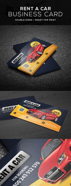 Rent car business card