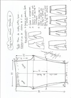 legging-sem-costura-lateral-PP. Dress Sewing Patterns, Sewing Patterns Free, Fabric Patterns, Clothing Patterns, Sewing Hacks, Sewing Tutorials, Blouse Tutorial, Sewing Blouses, E 38