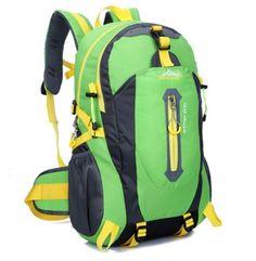 Outdoor Mountaineering Backpack Hiking Camping Waterproof Nylon Travel Bags Gender: UnisexMaterial: NylonBrand Name: HU WAI JIAN FENGRain Cover: NoFunction: WaterproofBackpacks Type: External FrameModel Number: