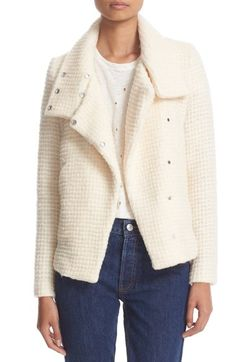 IRO Snap Front Waffle Knit Jacket available at #Nordstrom