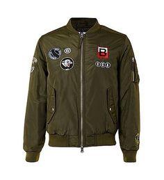 fd192eb2 Bomber jacket low Topman Jackets, Men's Coats And Jackets, Mens Flight  Jacket, Bomber