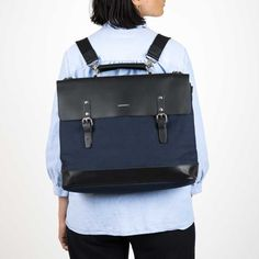 Doctor's bag in cotton canvas and leather. Can be carried as a backpack, cross-body bag or briefcase. Winter 2017, Fall Winter, Autumn, Ipad Sleeve, Bradley Mountain, Briefcase, Cotton Canvas, Crossbody Bag, Backpacks