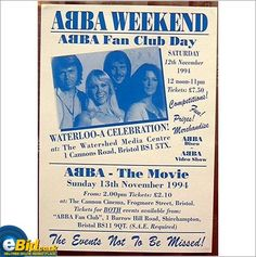 ABBA - ABBA Poster ABBA Weekend 1994 Event Promo Poster. Super Trouper One Of Us