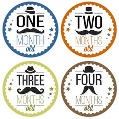 Have fun with these 12 Hipster Monthly Baby Milestone Stickers! They make a great shower gift for parents who are expecting, or just welcoming 12 Month Milestones, Baby Monthly Milestones, Monthly Baby, Baby Mustache, Baby Milestone Chart, Baby Month Stickers, Baby Boy, Hipster Babies, Baby Scrapbook