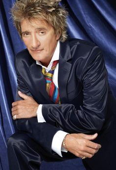 ROCK ICON-ROD STEWART!***DAKS of London Navy Blue 2-Bttn Cotton Blend Suit 44R #DAKS #TwoButton