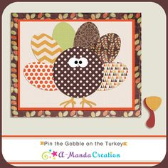 Pin the Gobble on the Turkey Game. A Thanksgiving version of the popular game pin the nose...except the turkey has lost his beak and gobble!  So pin the gobble on the turkey.  This is a great game for kids to play on Thanksgiving, it will help keep them busy and out of the kitchen while they wait for dinner to be ready. Or gather the adults and have them play a game to add some serious laughter into your night.