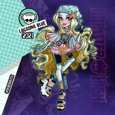 Monster High, Calling All The Monsters, High Art, Anime Outfits, Devil, Joker, Instagram, Blue, Fictional Characters