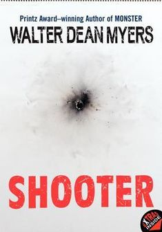 Shooter by Walter Dean Myers (on the shelf: F Mye) - Written in the form of interviews, reports, and journal entries, the story of three troubled teenagers ends in a tragic school shooting.