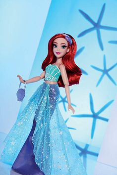 Disney Princess Style Series, Ariel Doll in Contemporary Style with Purse & Shoes Disney Barbie Dolls, Ariel Doll, Disney Princess Dolls, Cute Disney, Disney Style, Disney Descendants Dolls, Classic Disney Movies, Ariel The Little Mermaid, Princess Style