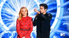 Chloe Moretz & Dylan O'Brien presenting 5SOS' performance at the 2014 Video Music Awards [August 24th, 2014]