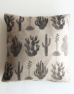 AMELIE MANCINI cactus pillow cover via Home of the Brave pop-up in Brooklyn