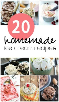 20 Homemade Ice Cream Recipes from SixSistersStuff.com
