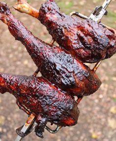 Campfire Breakfast, Campfire Food, Classic Turkey Recipe, Baked Apple Crisps, Rotisserie Turkey, Bbq Sauce Ingredients, Mulling Spices, Turkey Legs, Chicken Fried Steak