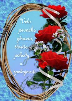 prianie k narodeninám a meninám Happy Birthday Cards, Grapevine Wreath, Grape Vines, Congratulations, Wreaths, Table Decorations, Gifts, Handmade, Home Decor