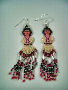 $23.10 + free shipping.  Navajo Indian Hand Made Beaded Spanish Mexican Senorita Girl Earrings