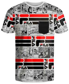 Shirt Print Design, Tee Shirt Designs, Dc Converse, Fila Apparel, Fila Outfit, Mens Printed T Shirts, Black Lives Matter Shirt, Versace Shirts, Bird Shirt