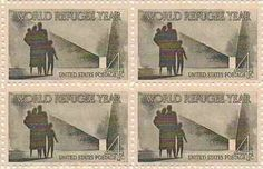 World Refugee Year Set of 4 x 4 Cent US Postage Stamps NEW Scot #1149 . $0.89. One set of four (4)World Refugee Year  4 x 4 Cent postage stamps Scot #1149