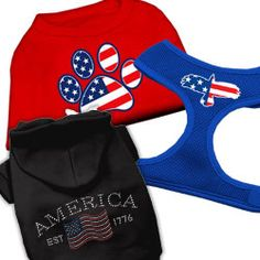 Patriotic Fourth of July Dog Clothing & Harnesses