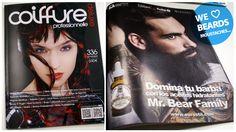 Encantados de salir en la revista Coiffure professionnelle Deluxe (Septiembre) ¿Conoces ya Mr Bear Family? Los mejores productos para el cuidad de la barba y bigote #MrBearFamily #Barba #Eurostil #Beard #Barberia