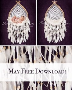 May Free Download! Wooden Dream Catcher With Purple Background - Beautiful Digital backdrop Newborn Photography Prop download - psd with Layers