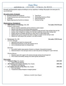 Example Server Resume Security Resume  Federal Resume Example Free Federal Resume Sample .