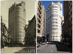 Then and Now - Libero Badaro Street, 1947 and 2013