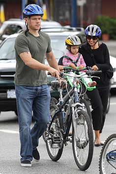 Family Affair: Matt Damon, his wife, and young daughter rode to the city seawall in Vancouver, Canada, while vacationing this Summer. Biking is a great way to sightsee. Many cities have city-wide bike rental programs —NYC and San Francisco will be getting one soon. Be sure to read up on biking laws and etiquette when cycling internationally so you dont end up with a ticket or in an accident.