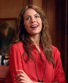 """Arrow Style and Fashion: Willa Holland, as Thea Queen, wore the Alice + Olivia Drew Peplumback Blouse on Arrow Episode """"Legacies"""""""