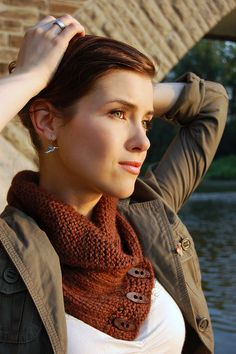 Shawl Collared Cowl, Knit. The pattern is $5.00 but worth the classic addition to an outfit.