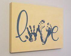 Toute couleur la rayure amour Handprint et par SnowFlowerArts                                                                                                                                                                                 More