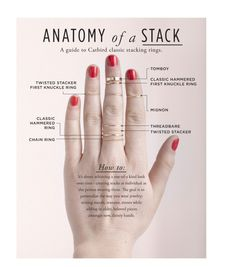 Clustering: The Science of Stacking...I would like the thin twisted first knuckle ring as a thumb ring please