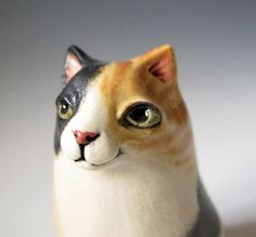 Sitting Calico Cat Ceramic Vase  hand formed from от MaidOfClay, $44.00