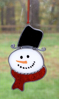 Christmas+Holiday+Stained+Glass+Suncatcher++Winter+by+GLASSbits,+$20.00